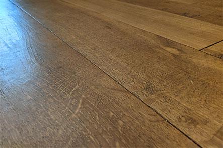Example of hardwood floor that has been fumed