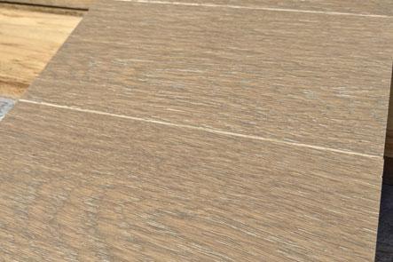 Harwood flooring sample with wirebrushed finish