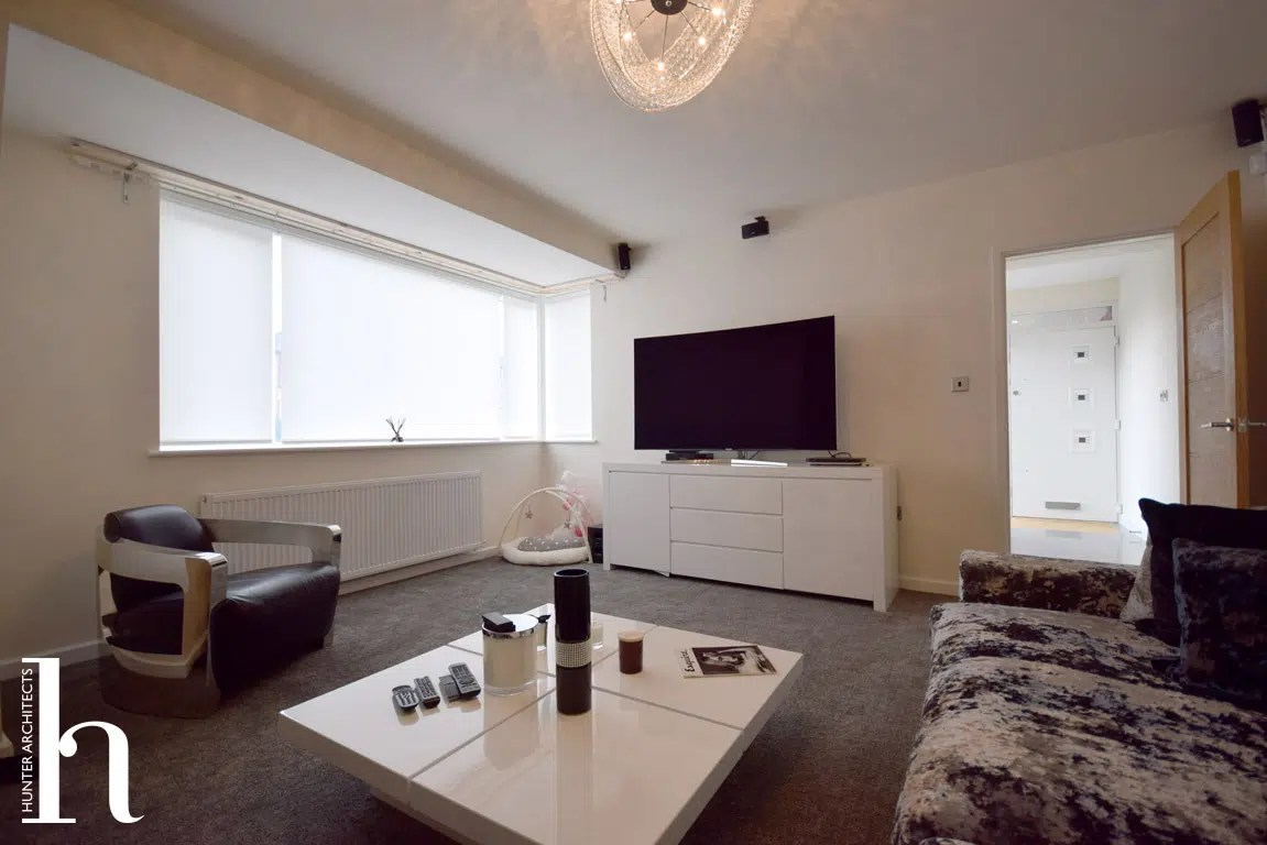 New Formal living room with corner glazing in Timperley (Trafford)