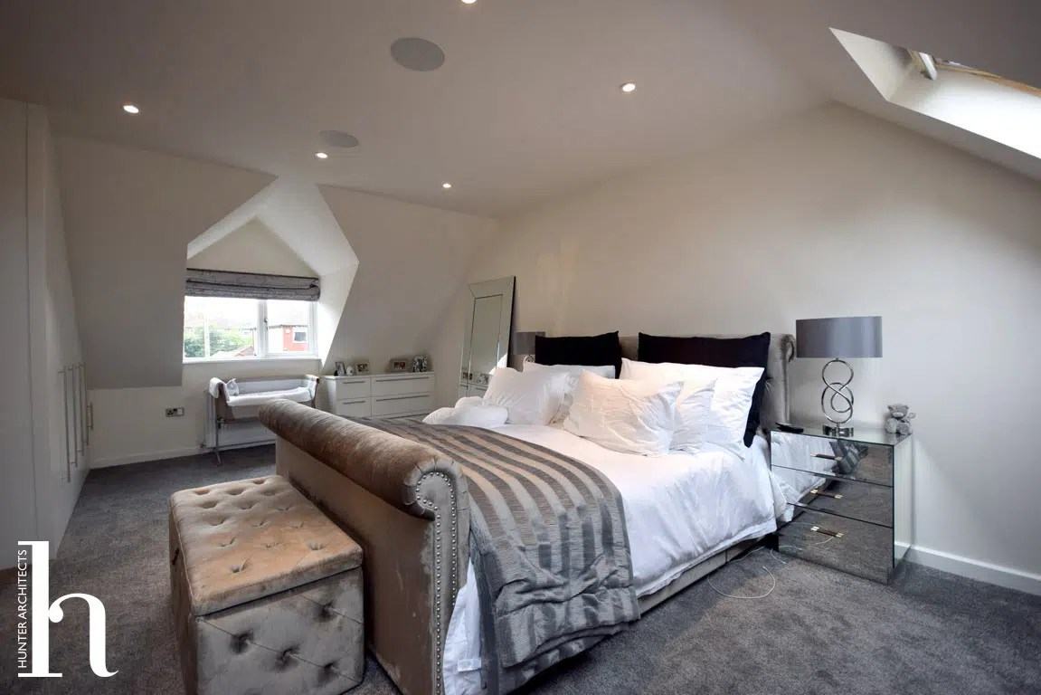 Master Bedroom suite with dressing room and en-suite in Altrincham