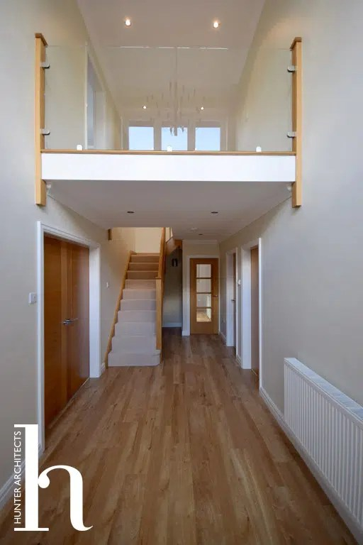 Cheshire Architects Double Height Entrance to family home