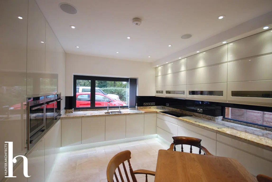 Contemporary kitchen in Manchester Self Build