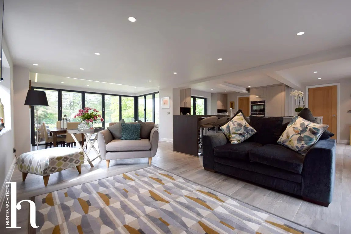 Cheshire Architects Family Room in traditional cottage