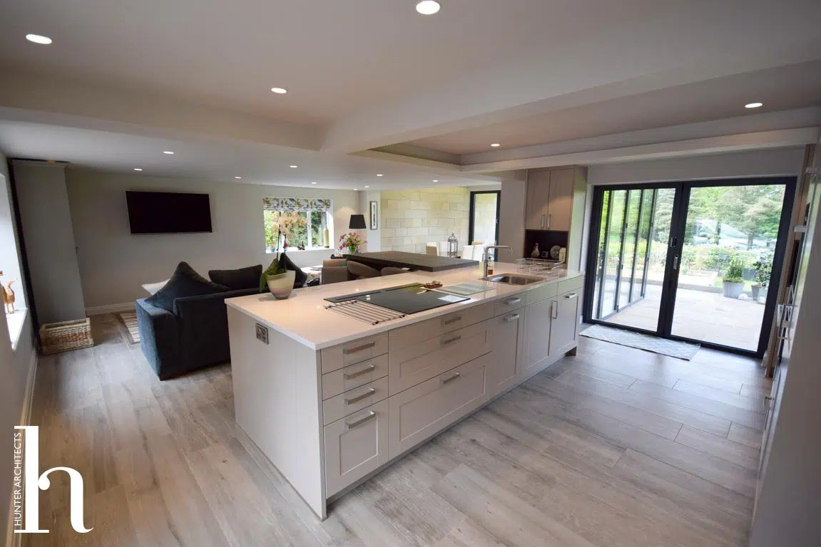 Contemporary Kitchen to Stone Cottage in Mottram St. Andrew