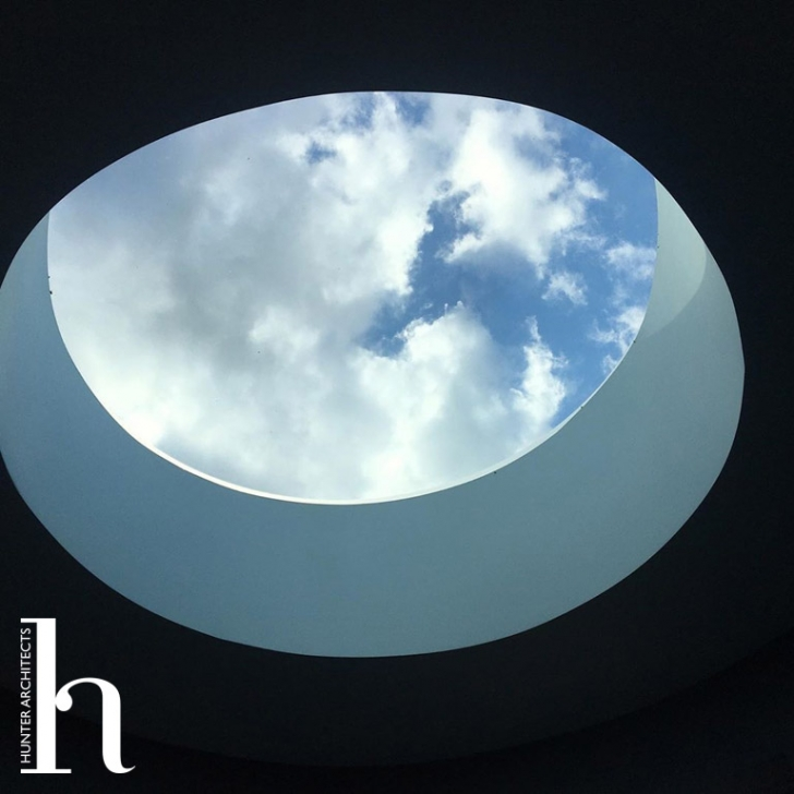 Circular feature rooflight to curved tower