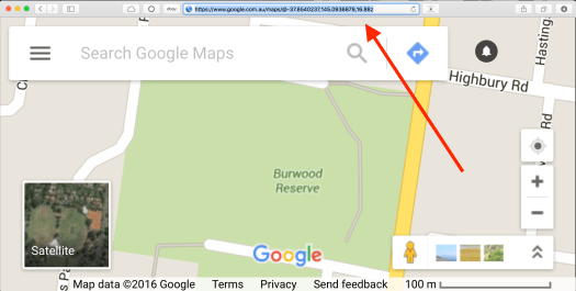 How to get the site Google Maps URL