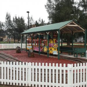 Hunter valley mini train for kids at the festival
