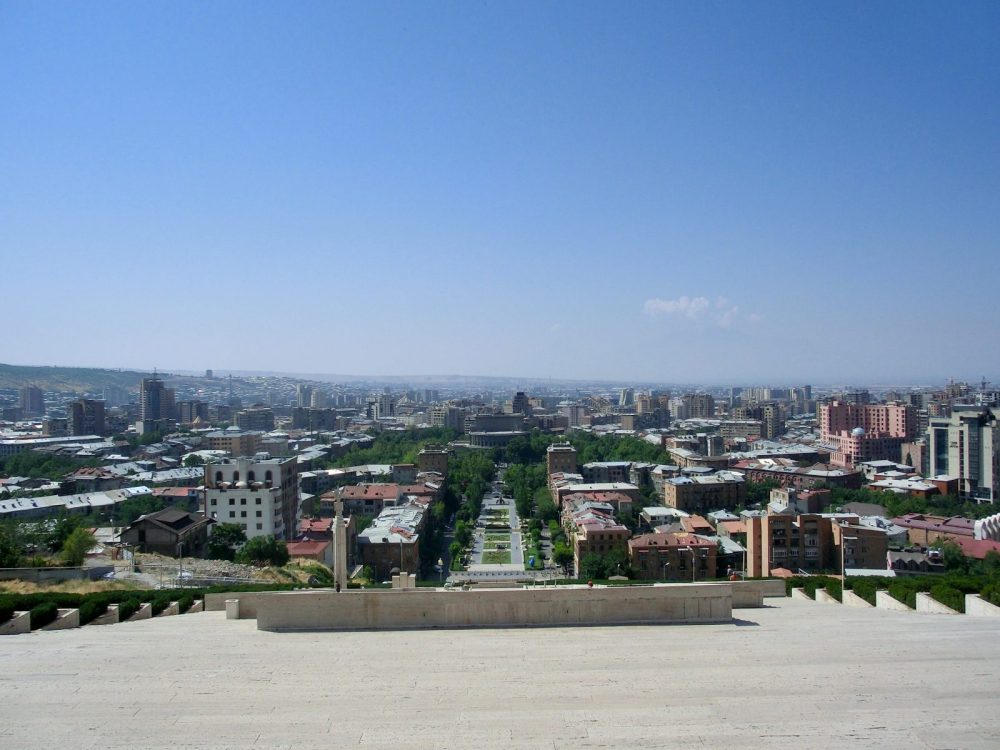 Cascade, Yerevan, Armenia, View, City, Ararat