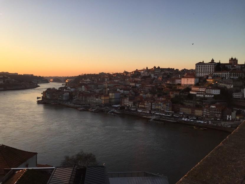 sunset, Porto, Portugal, view