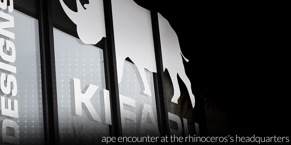 Ape Encounter at the Rhinoceros's Headquarters