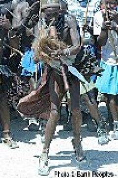 Traditional Himba leader human rights gatherings
