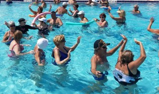 Conga Line in the Pool