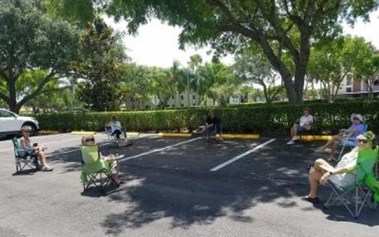 HP 6 clubhouse parking lot