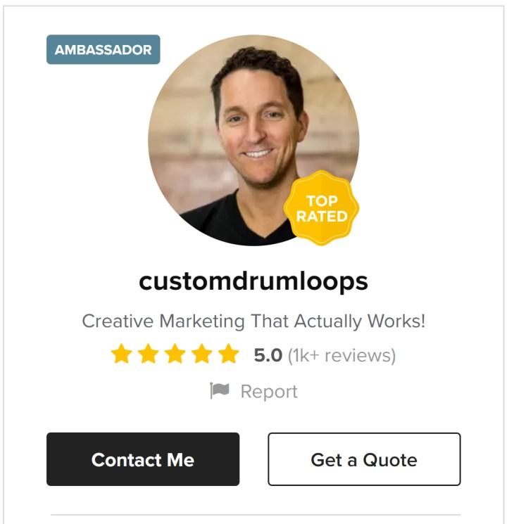 customdrumloops - digital marketing - Fiverr sellers who make six figures a year in 2020