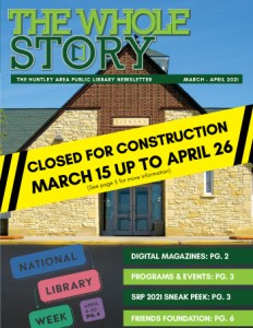 The Whole Story Newsletter - March - April 2021
