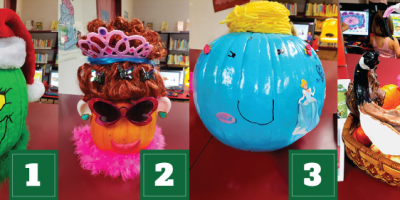 Family Pumpkin Book Character Voting