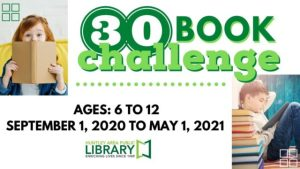 Kids 6-12 Take the 30 Book Challenge!