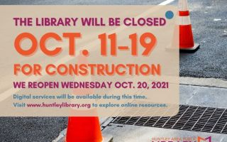 Library to Close October 11-19 for Construction, will reopen on Wednesday, October 20, 2021