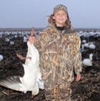 Although a little too young to carry a gun this young hunter enjoyed retrieving our snow geese.