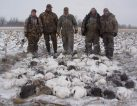 First day of our 2009 season. This group of hunters shot 90 birds Feb 13, 2009 as a snow storm roll through the area.