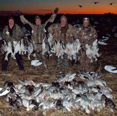 I've said February was very good this year. Here is another group of hunters with a large day in the snow goose field.