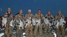 There are three condition required to make a good day in the field snow goose hunting. They are the right weather conditions, good shooting, and a little luck. This group had all three on this spring snow goose hunt.