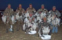 This hunt was March 10, 2012. There was a pretty good snow goose migration this day. Unfortunately it was also the day that we lost most of our snow geese in NW Missouri. With the record high temperatures the snow geese moved out a week to two weeks earlier than normal.