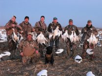 Mickey with his group of snow goose hunters.