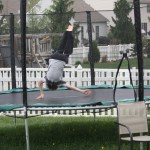 playing on Common trampoline