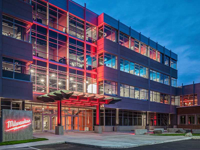MILWAUKEE TOOL OFFICE ADDITION | Hunzinger Construction