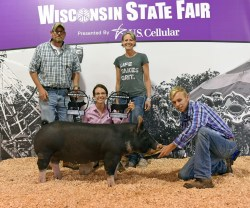 Congratulations to Lexi Odermann and her State Fair Grand Champion Pig, Piper!
