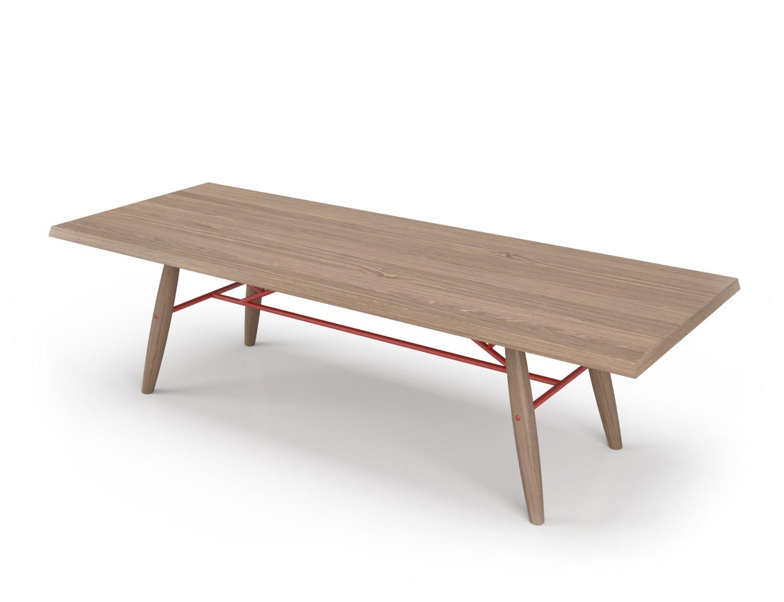 grande table en chene blanc