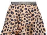 Kids Girls skirt allover print with ruffle + fancy elastic wais light pink AO