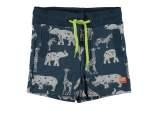 Baby Boys shorts allover print + fake pockets + waist cord blue aop