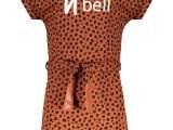 Miky dress cheeta on sweat Cognac