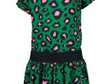 Girls dress with leo aop and ruffle around armhole Jade leopard