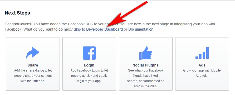 Get App ID and App Secret key from Facebook 6