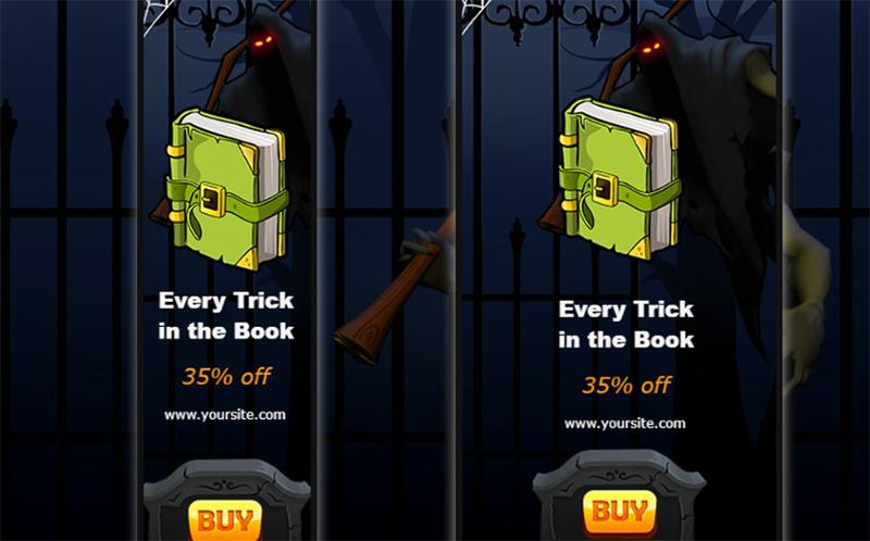 Halloween Ad Animated Banner