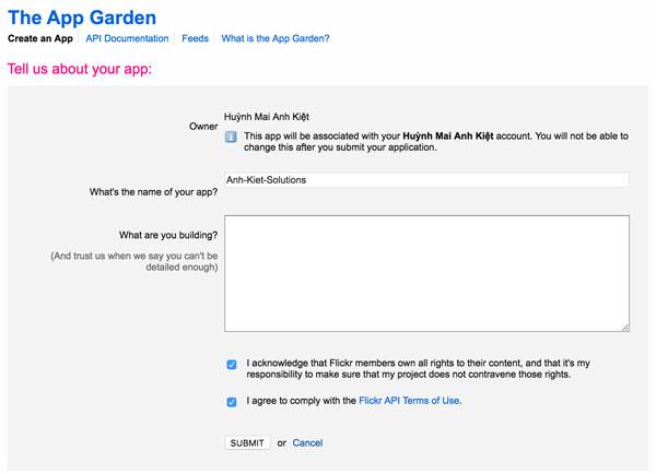 How to get Flickr API key? - Hura Tips