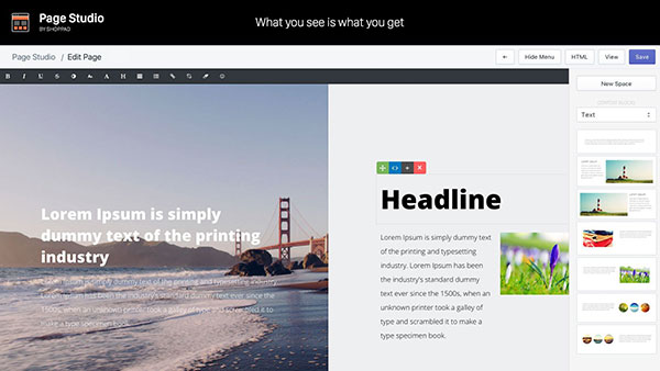 Page Studio: Create beautiful pages by drag & drop