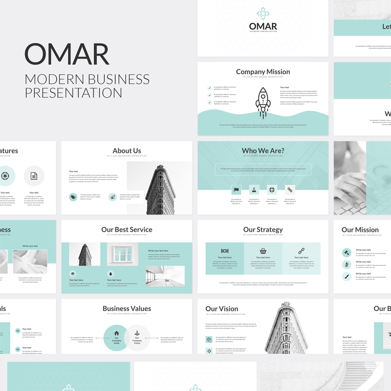 Omar Modern Business PowerPoint Template