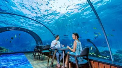5.8 Undersea Restaurant – Maldives underwater restaurant
