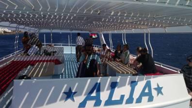 Auf dem Boot ist viel Platz- hurghada