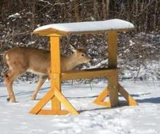 Trough deer feeder