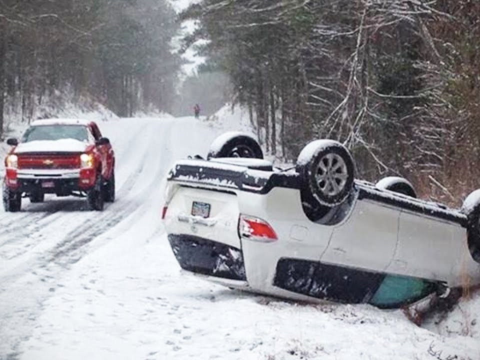 Winter Weather Car Wreck