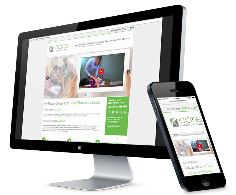 Web design for Core Chiropractic Center