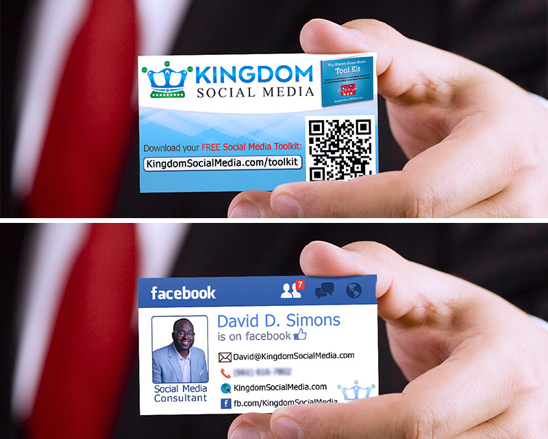 Kingdom Social Media business card design