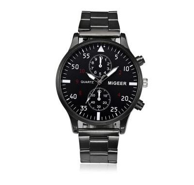 MIGEER 2013 Trendy Steel Band Men Quartz Watch