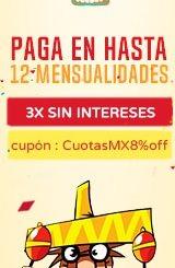 México- Pago a Plazos en 3 Mensualidades sin Interés!