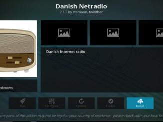 Danish Netradio Addon Guide